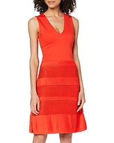 French Connection Women's Pleat Lace Jersey Dress, Sunset Wave, 4