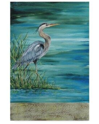 """Highland Dunes 'Great Blue Heron' Graphic Art Print on Wrapped Canvas HIDN6996 Size: 32"""" H x 22"""" W x 2"""" D"""