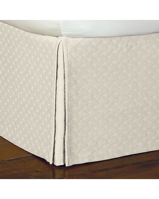 """Eastern Accents Briseyda Matelasse 16"""" Bed Skirt SK-26 Size: Queen Color: Shell"""