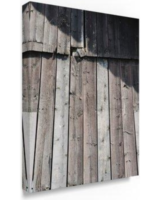 """Trademark Art 'Weathered Barn' Photographic Print on Wrapped Canvas TS00045-C Size: 47"""" H x 35"""" W"""