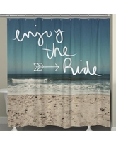 LauralHome Enjoy the Ride Shower Curtain ER72SC