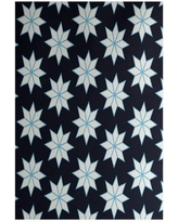 The Holiday Aisle Christmass Geometric Blue Indoor/Outdoor Area Rug THLA6849 Rug Size: Rectangle 2' x 3'