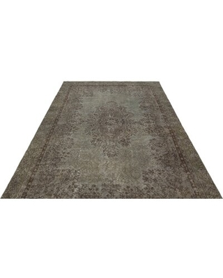 """One-of-a-Kind Hand-Knotted 6'2"""" x 9'8"""" Wool Gray Area Rug Isabelline"""