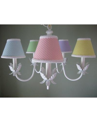 Silly Bear Ooh Baby Baby 5-Light Shaded Chandelier BC87-5A-AS14