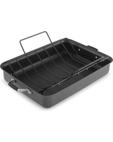 Select by Calphalon 16 Inch Hard-Anodized Non-stick Roaster with Rack, Silver