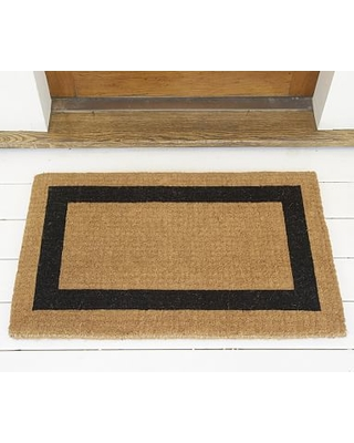 """Picture Frame Extra-Large Doormat, 30 x 48"""", Black"""