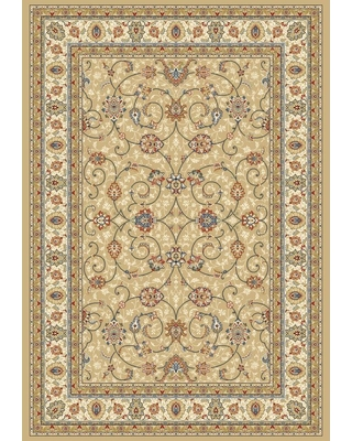 Home Decorators Collection Vaughan Light Gold/Ivory 4 ft. x 6 ft. Indoor Area Rug
