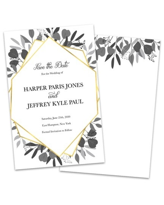 Personalized Faux Gold We Do Save The Date Announcement