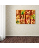 """World Menagerie 'Mayan Tiles' Print on Wrapped Canvas WLDM6937 Size: 35"""" H x 47"""" W x 2"""" D"""