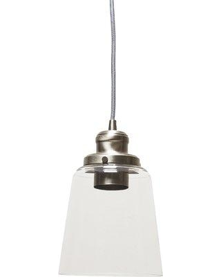 "Birch Lane™ Lorenco 1 - Light Single Bell Pendant Finish: Brushed Nickel, Glass in Bronze/Nickel/Polished Nickel, Size Mini (Less than 6"" wide)"