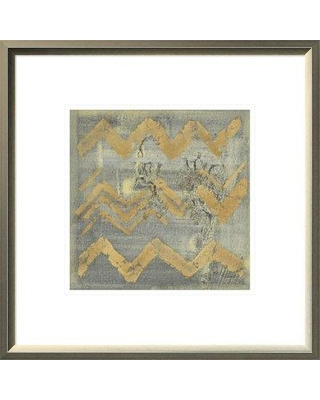 """East Urban Home 'Gold Tapestry VI' Print EUHE2354 Size: 17.6"""" H x 17.6"""" W Format: Framed"""