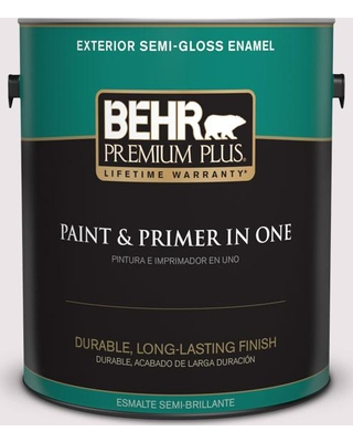 BEHR Premium Plus 1 gal. #690E-1 Shell Brook Semi-Gloss Enamel Exterior Paint and Primer in One