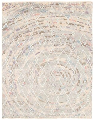 """One-of-a-Kind Theodora Hand-Knotted 7'11"""" X 10'1"""" Area Rug in Light Gray"""