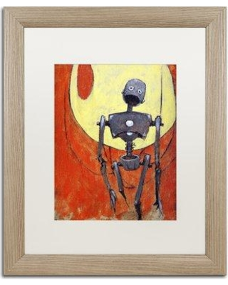 """Trademark Art 'Iron Bot' by Craig Snodgrass Framed Painting Print ALI2705-T1 Matte Color: White Size: 20"""" H x 16"""" W x 0.5"""" D"""