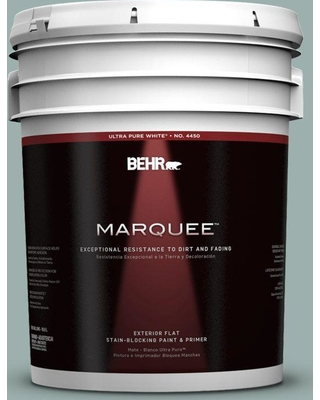 BEHR MARQUEE 5 gal. #490F-4 Gray Morning Flat Exterior Paint and Primer in One