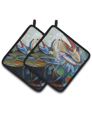 Belly Crab Pair of Pot Holders