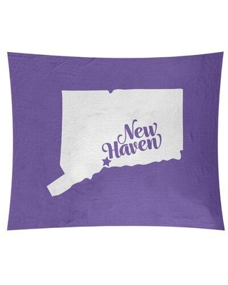 """East Urban Home New Haven Connecticut Wall Tapestry EBIU5233 Size: 88"""" H x 104"""" W Color: Purple"""