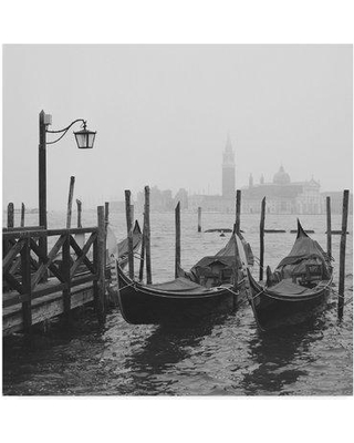 "East Urban Home 'Morning in Venice' Photographic Print on Wrapped Canvas W001147109 Size: 35"" H x 35"" W x 2"" D"