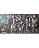 "Empire Art Direct ""Jazz Band"" Mixed Media Iron Hand Painted Dimensional Wall Décor PMO-120933-5628"