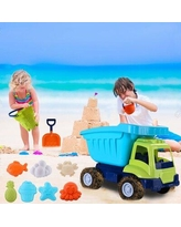 Milty Sand Toys For Toddlers Age 3-8 Toddler Toys 11 Pieces Sand Toys Set In Reusable Mesh Bag w/ Pail Car Animals Castle | Wayfair