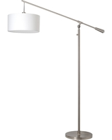 White Shade Cantilever Floor Lamp - Nickel - Threshold, Silver