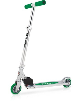 Razor A Kick Scooter-Green, Lightweight Aluminum Folding Scooter with Adjustable Handlebars
