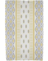 East Urban Home Upscale Getaway Scrambled Beach Towel ESTW5573 Color: Yellow