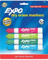 Expo Dry Erase Markers, Chisel Tip, 4ct - Tropical Tones