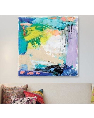 """East Urban Home 'Violet Vigor I' By Tracy Lynn Pristas Print on Wrapped Canvas URBH9105 Size: 26"""" H x 26"""" W x 1.5"""" D"""