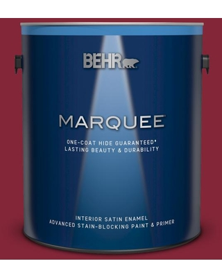 BEHR MARQUEE 1 gal. #M140-7 Dark Crimson Satin Enamel Interior Paint and Primer in One