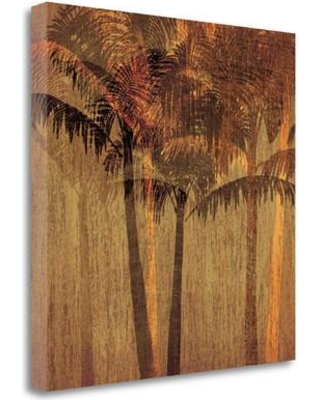 """Tangletown Fine Art 'Sunset Palms II' Graphic Art Print on Wrapped Canvas CAAPP118-2020c Size: 20"""" H x 20"""" W"""
