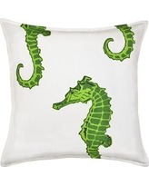 Greendale Home Fashions Seahorse Cotton Canvas Throw Pillow TP5203- Color: Green
