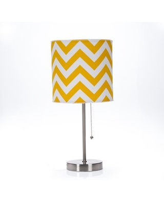 """Stgermain 18"""" Table Lamp Harriet Bee Shade Color: Yellow / White"""