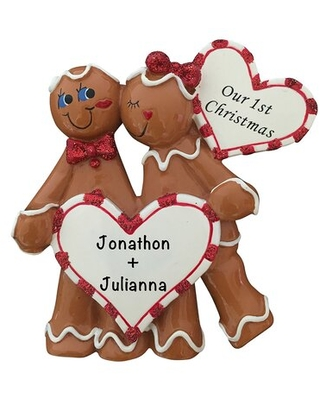 Heart Snow Couple Hanging Figurine Ornament The Holiday Aisle®