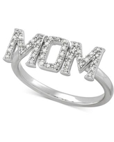 Diamond Mom Ring (1/6 ct. t.w.) in Sterling Silver - Sterling Silver