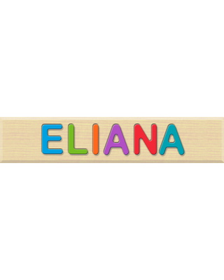 Personalized Name Puzzle - ELIANA - Early Learning Toys for Babies - Fat Brain Toys