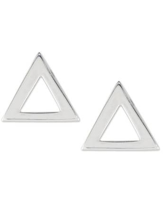 Handcrafted Sterling Silver Triangle Stud Earrings