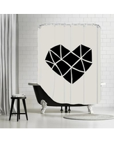 Brayden Studio Brett Wilson Polygon Heart Shower Curtain BRSD5832