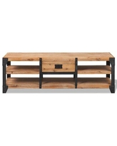 """East Urban Home Solid Wood TV Stand for TVs up to 60"""" Wood/Metal in Brown, Size 17.72 H x 55.12 W x 15.75 D in 