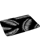 """Kelly Haines Monochrome Palm Leaves Bath Rugs and Mats Black 24"""" x 36"""" - Deny Designs"""