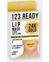 123 Ready 24k Gold Lift & Firm Gel Lip Patches 5 Pc