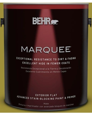 BEHR MARQUEE 1 gal. Home Decorators Collection #hdc-MD-20 Banana Leaf Flat Exterior Paint & Primer, Greens