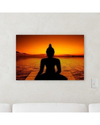 """World Menagerie 'Yoga' Graphic Art Print on Canvas W000905747 Size: 30"""" H x 40"""" W x 2"""" D"""
