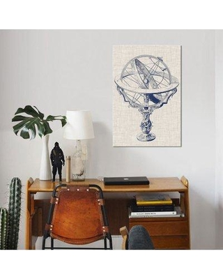"East Urban Home 'Armillary Sphere on Linen II' Graphic Art Print on Wrapped Canvas ESUH7797 Size: 40"" H x 26"" W x 1.5"" D"