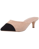 The Drop Women's Paulina Pointed Toe Two-Tone Mule, Natural/Black, 6