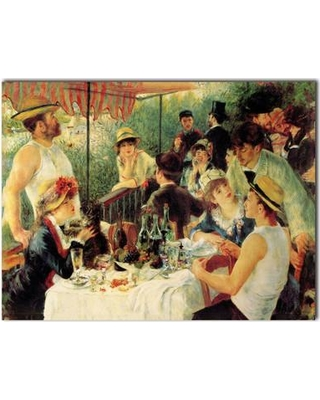 """Trademark Fine Art 'Luncheon of the Boating Party' Print on Canvas M214-C1419MX / M214-C1824MX Size: 14"""" H x 19"""" W x 0.1"""" D"""