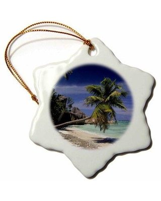 Deals On The Holiday Aisle Anse Sourse Dargent Beach La Digue Seychelles Snowflake Holiday Shaped Ornament Ceramic Porcelain In Blue Size 3 H X 3 W
