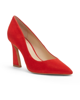Vince Camuto Thanley Pointed Toe Pump, Size 6.5 in Cherry Berry at Nordstrom