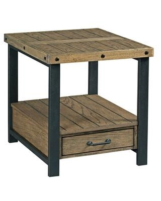 Workbench-Hamilton Collection 790-915 Rectangular Drawer End Table in Rustic
