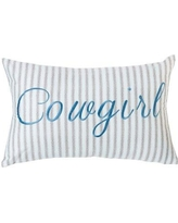Red Barrel Studio Barrier Cowgirl Embroidery Lumbar Pillow RDBE1586